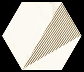 Calacatta Hexagon Mat. C  - Wielokolorowe - 171x198 - Dekorationen - Calacatta