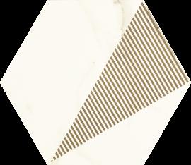 Calacatta Hexagon Mat. C  - Wielokolorowe - 171x198 - Calacatta