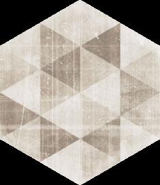 Hexx Universum Motyw Crema Heksagon  - Beżowy - 260x260 - напольная плитка - Hexx Universum