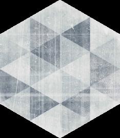 Hexx Universum Motyw Grigio Heksagon - Szary - 260x260 - Płytki podłogowe - Hexx Universum