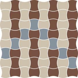 Modernizm Bianco Mozaika Prasowana K.3,6X4,4 Mix B - Biały - 309x309 - Mozaiki - Modernizm