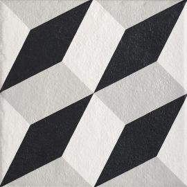 Modern Gres Szkl. Struktura Motyw A  - Wielokolorowe - 198x198 - Floor tiles - Modern