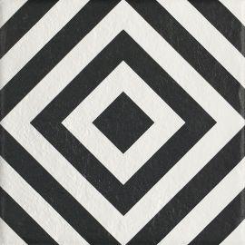 Modern Gres Szkl. Struktura Motyw B  - Wielokolorowe - 198x198 - Płytki podłogowe - Modern