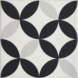 Modern Gres Szkl. Struktura Motyw E  - Wielokolorowe - 198x198 - Floor tiles - Modern