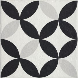 Modern Gres Szkl. Struktura Motyw E  - Wielokolorowe - 198x198 - Fussbodenfliesen - Modern