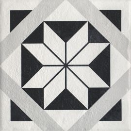 Modern Gres Szkl. Struktura Motyw F  - Wielokolorowe - 198x198 - Fussbodenfliesen - Modern