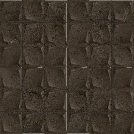 Minimal Stone Nero Mozaika Prasowana K.4,8X4,8   - Czarny - 298x298 - декорации - Minimal Stone