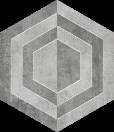 Scratch Grys Heksagon A Mat.  - Szary - 260x298 - Dekoracje podłogowe - Scratch