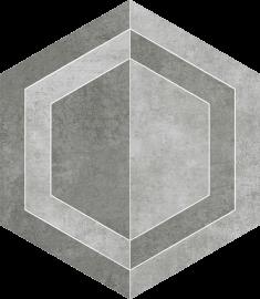 Scratch Grys Heksagon B Mat.  - Szary - 260x298 - Dekoracje podłogowe - Scratch
