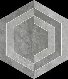 Scratch Grys Heksagon C Mat.  - Szary - 260x298 - Dekoracje podłogowe - Scratch