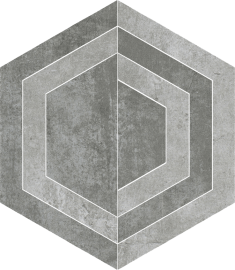Scratch Grys Heksagon C Mat.  - Szary - 260x298 - Floor decorations - Scratch