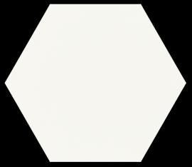 Shiny Lines Bianco Heksagon Gres Szkl. Mat.  - Biały - 198x171 - напольная плитка - Shiny Lines