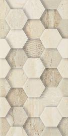 Sunlight Stone Beige Ściana Dekor Geometryk  - Beżowy - 300x600 - настенная плитка - Sunlight / Sun