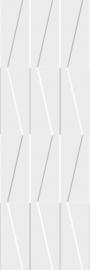 Tel Awiv Bianco Ściana C Struktura Rekt.   - Biały - 298x898 - Wandfliesen - Tel Awiv