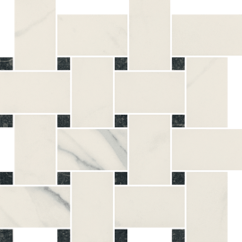 Uniwersalna Mozaika Bianco Paradyż Pantos - Biały - 266x266 - Mozaiki - Uniwersalne mozaiki cięte