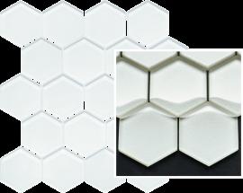 Uniwersalna Mozaika Szklana Paradyż Ivory Heksagon  - Szary - 258x280 - Mozaiki - Uniwersalne mozaiki szklane