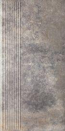 Viano Grys Stopnica Prosta - Szary - 300x600 - Floor tiles - Viano