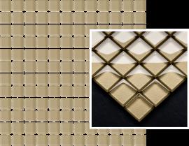 Uniwersalna Mozaika Szklana Paradyż Beige  - Beżowy - 298x298 - Mosaics - Uniwersalne mozaiki szklane