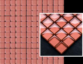 Uniwersalna Mozaika Szklana Paradyż Praline  - Brązowy - 298x298 - мозаики - Uniwersalne mozaiki szklane