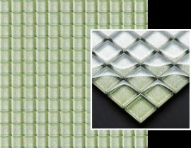 Uniwersalna Mozaika Szklana Paradyż Verde Brokat  - Zielony - 298x298 - Mosaike - Uniwersalne mozaiki szklane