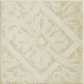 Wawel Beige Inserto Classic B  - Beżowy - 198x198 - Dekoracje ścienne - Wawel