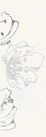 Midian Bianco Inserto Kwiat   - Biały - 200x600 - Wanddekorationen - Midian / Purio