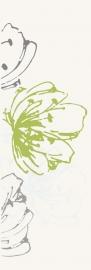 Midian Verde Inserto Kwiat   - Zielony - 200x600 - Wanddekorationen - Midian / Purio