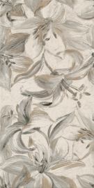 Domus Beige Inserto Flower   - Beżowy - 300x600 - Wall decorations - Domus