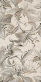 Domus Beige Inserto Flower   - Beżowy - 300x600 - настенные декорации - Domus