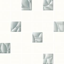 Esten Bianco / серебро Mozaika Cięta K.4,8X4,8 - белый / серый - 298x298 - настенный декор - Esten
