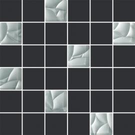 Esten Silver/grafit Mozaika Cięta K.4,8X4,8  - Szary/szary - 298x298 - Dekoracie - Esten