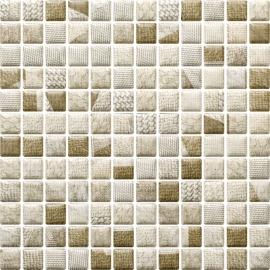 Attiya Beige Mozaika Prasowana K.2,3X2,3 Mix  - Beżowy - 298x298 - декорации - Attiya