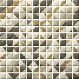 Enya Grafit Mozaika Prasowana K.2,3X2,3 Mix  - Szary - 298x298 - Dekoracje - Enya