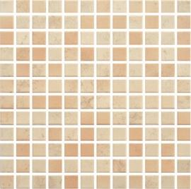 Penelopa Beige/brown Mozaika Prasowana K.2,3X2,3  - Beżowy/brązowy - 298x298 - Elevation tiles - Penelopa