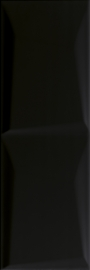 Maloli Nero Ściana B Struktura  - Czarny - 200x600 - Wandfliesen - Maloli
