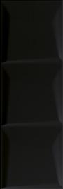 Maloli Nero Ściana C Struktura  - Czarny - 200x600 - Wandfliesen - Maloli