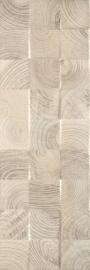 Daikiri Beige Ściana Wood Kostki Struktura Rekt.   - Beżowy - 250x750 - Płytki ścienne - Daikiri