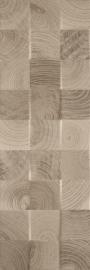 Daikiri Brown Ściana Wood Kostki Struktura Rekt.   - Brązowy - 250x750 - Płytki ścienne - Daikiri