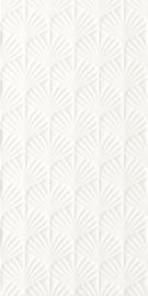 Adilio Bianco ściana Struktura Rekt. Fan  - Biały - 295x595 - Wandfliesen - Adilio / Rivo