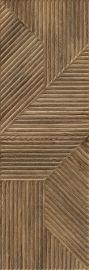 Woodskin Brown Ściana A Struktura Rekt. - Brązowy - 298x898 - Wandfliesen - Woodskin