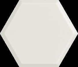 Woodskin Bianco Heksagon Struktura A Ściana  - Biały - 198x171 - Wall tiles - Woodskin