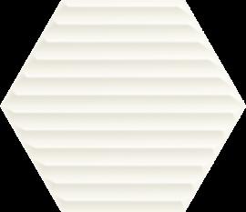 Woodskin Bianco Heksagon Struktura B Ściana  - Biały - 198x171 - Wall tiles - Woodskin