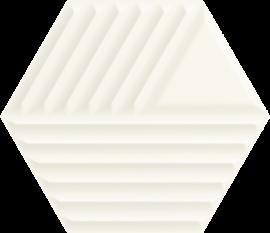 Woodskin Bianco Heksagon Struktura C Ściana  - Biały - 198x171 - Wall tiles - Woodskin
