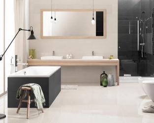 Minimalistyczny urok szaro-białej łazienki