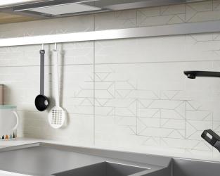 Biel i lekka geometria w skandynawskiej kuchni