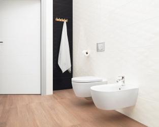 Czarno-biała,nowoczesna łazienka