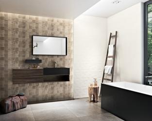 Łazienka z wanną w stylu skandynawskim
