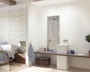Skandynawska sypialnia z łazienką