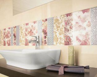Efektowny panel dekoracyjny, patchwork kwiatów i ornamentów