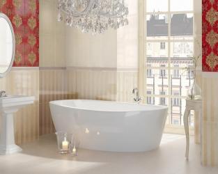 Czerwień, złoto i blask - esencja stylu glamour w łazience